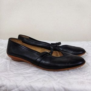 Salvatore Ferragamo Black Brown Ballet Flats